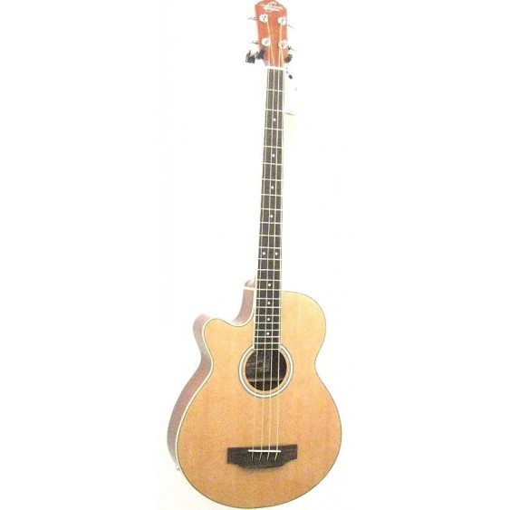 Oscar Schmidt Model OB100NLH Left Handed Acoustic Electric Bass with Bag - NEW