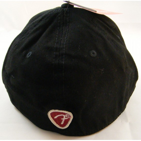 Genuine Fender Logo Black Stretch Cap Ballcap Hat Small-Medium S/M #9106603306