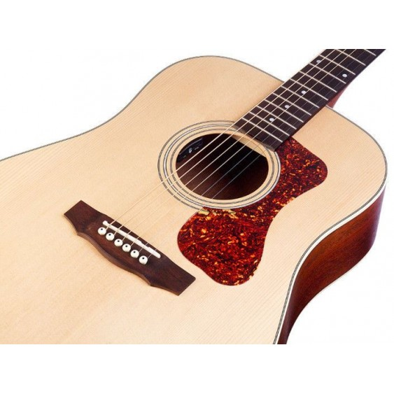 Guild D-240E Acoustic Electric Dreadnought Solid Top Guitar + Bag - Blem #CH135