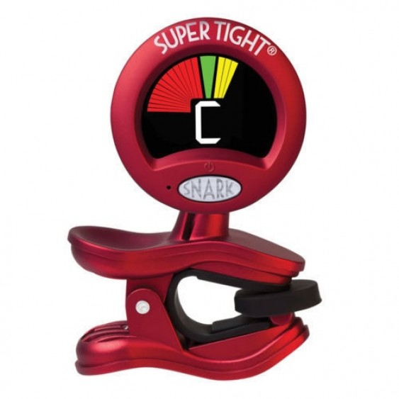 Snark ST-2 Super Tight Multi-Instrument Guitar Bass Clip-On Chromatic Tuner Red