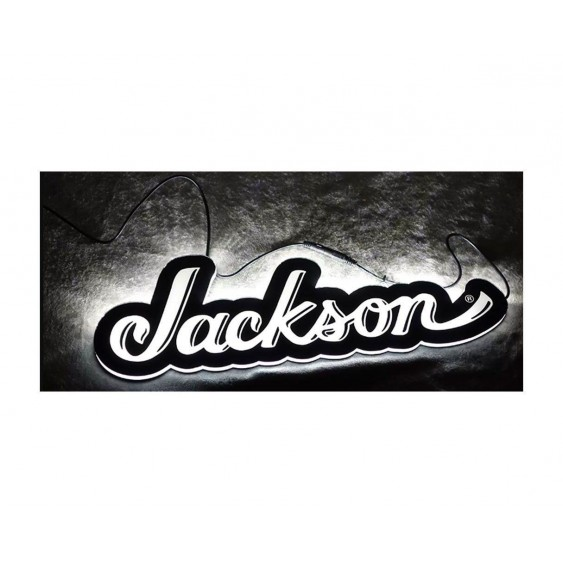 Jackson Guitars Logo LED Light Up Display Store Sign with Power Supply 18x6x1
