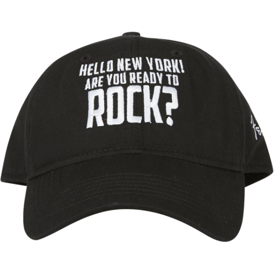 """Genuine Fender """"HELLO NEW YORK ARE YOU READY TO ROCK"""" Ballcap Hat #9106651000"""