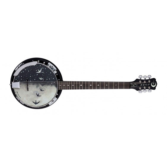Luna Moonbird BGB MOON 6E Acoustic Electric 6 String Closed Back Banjo