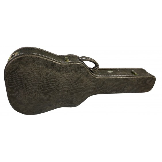 Washburn GCDNPRO Snake-Skin-esque Dreadnought Size Deluxe Acoustic Guitar Case