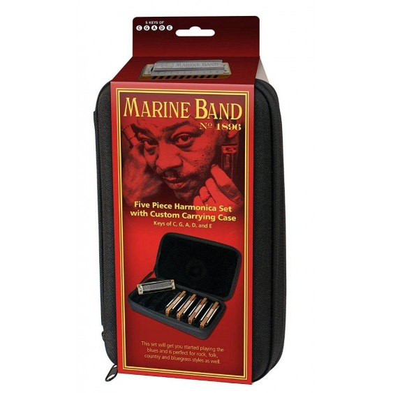 Hohner MBC Marine Band 5-Piece Harmonica Set G, A, C, D & E - Made in Germany