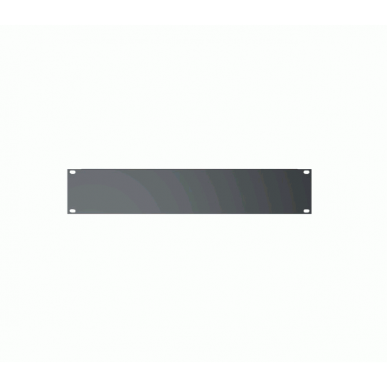 Quik Lok Model RS-242 2-Space Blank Rack Unit Filler Panel with Flanged Edges