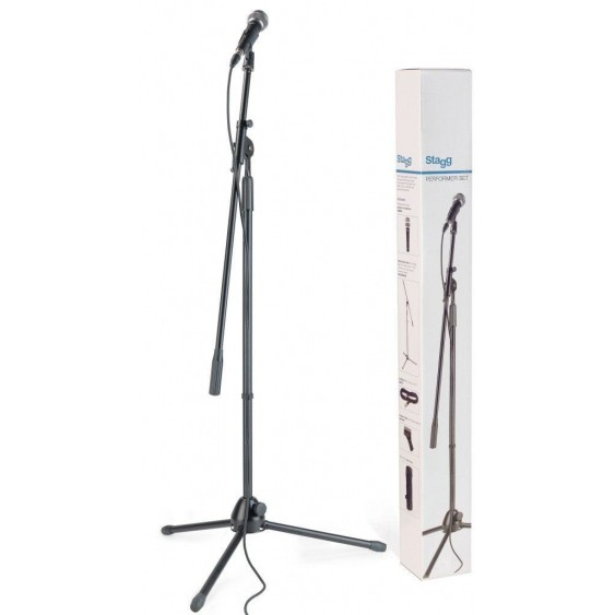 Stagg Dynamic Microphone Set with SDM50 Mic, Stand, Cable, and Bag #SDM50SET