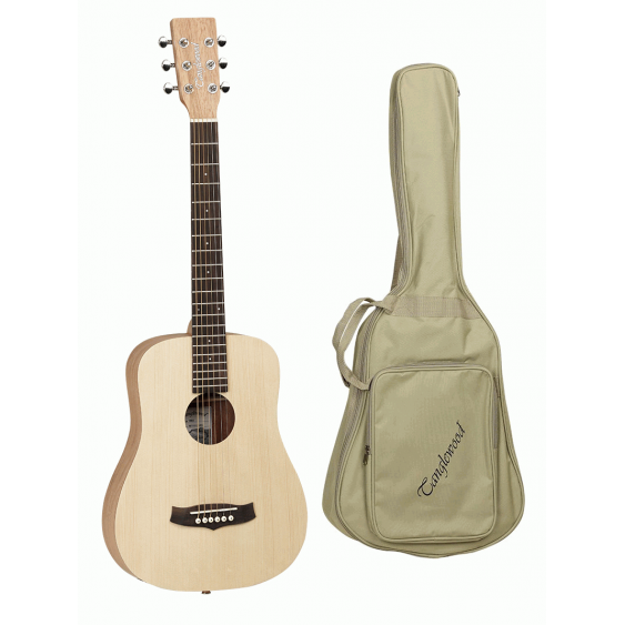 Tanglewood TWRT Cedar and Mahogany Folk Travel Size Acoustic Guitar with Gig Bag