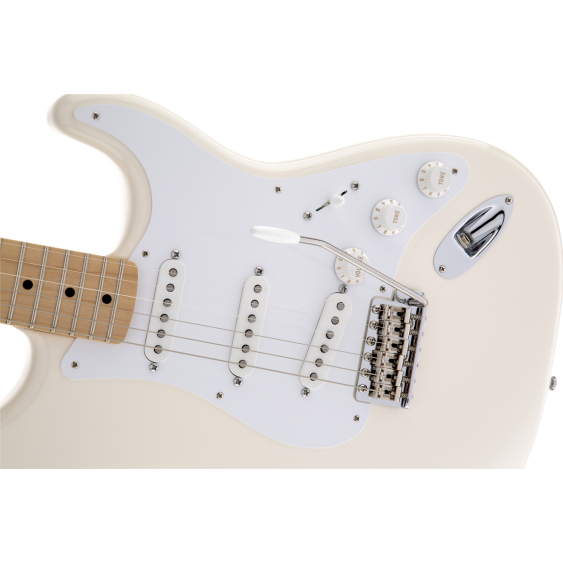 Fender Jimmie Vaughan Tex-Mex Stratocaster in Olympic White with Gig Bag - MIM