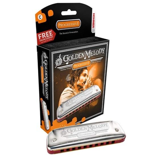 Hohner Golden Melody Progressive Harmonica, Made in Germany - Key of Eb (E FLAT)