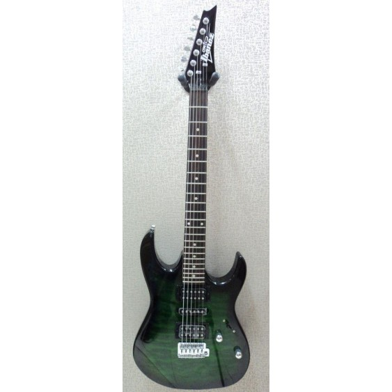 Ibanez GRX70QA GIO RX Series Electric Guitar in Transparent Green - #MF19