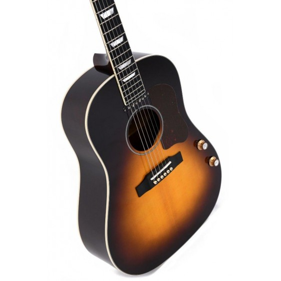 AMI Guitars JM-SG160E Sunburst Lennon Style Acoustic Electric Dreadnought Guitar