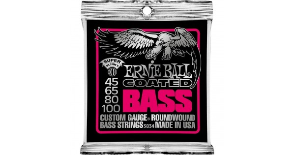 Ernie Ball 3834 Coated Super Slinky Bass Guitar Strings Free Ship U.S.