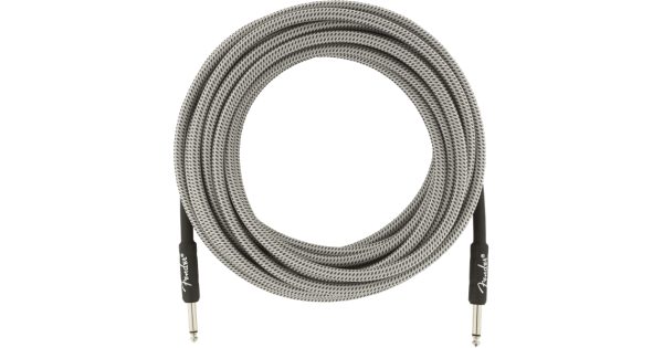 White Tweed Genuine Fender Professional Series Instrument Cable 25/'