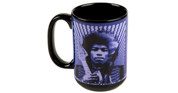 Genuine Fender Jimi Hendrix Kiss The Sky Purple Ceramic Coffee Mug #9100282000