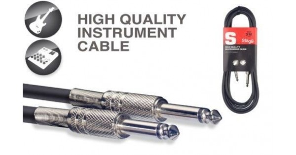 3 Stagg SGC3DL 10 Foot Professional Guitar Cable With Noise Free Connectors