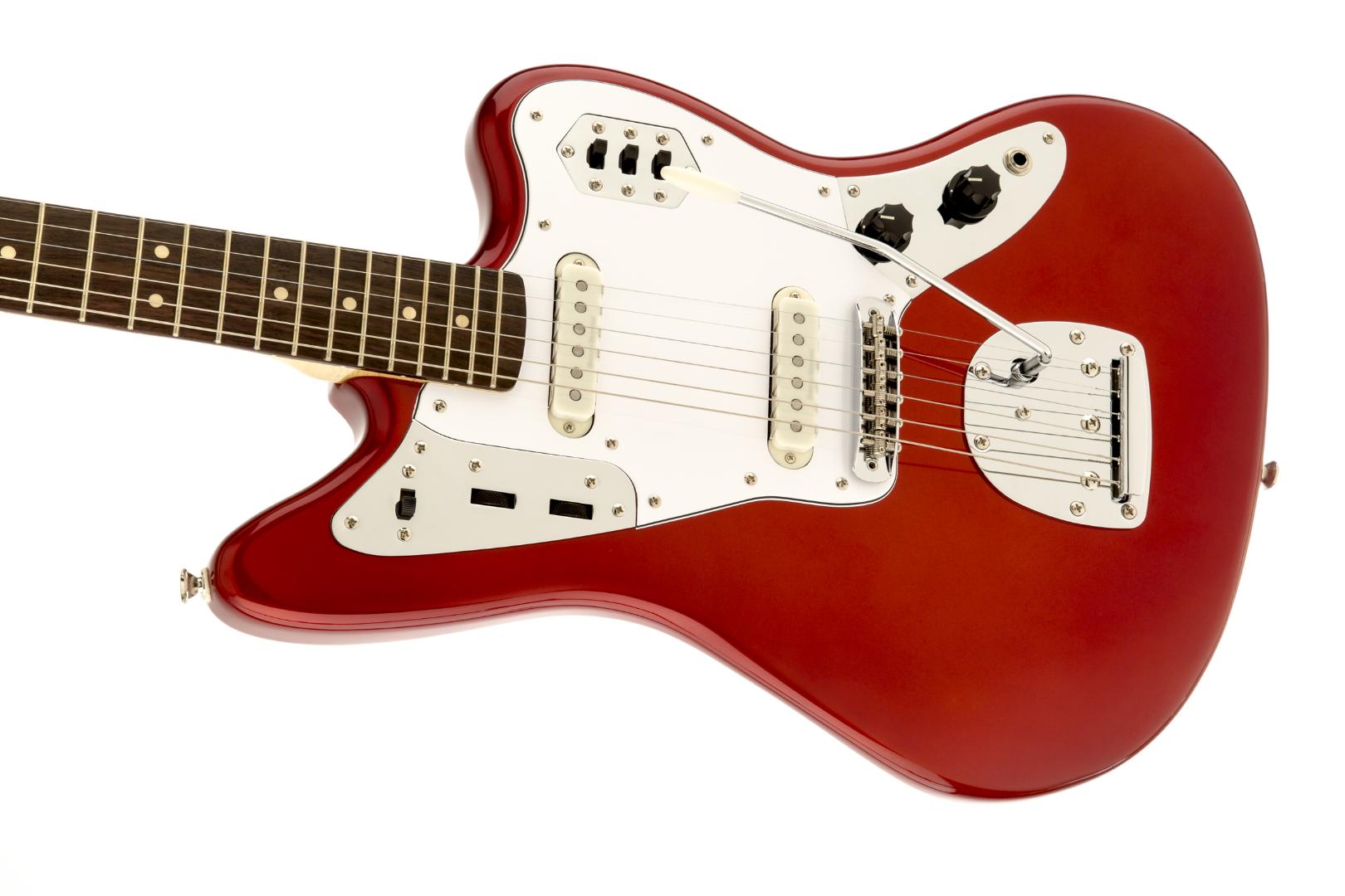 squier vintage modified jaguar electric guitar candy apple red w rosewood board 885978225194 ebay. Black Bedroom Furniture Sets. Home Design Ideas
