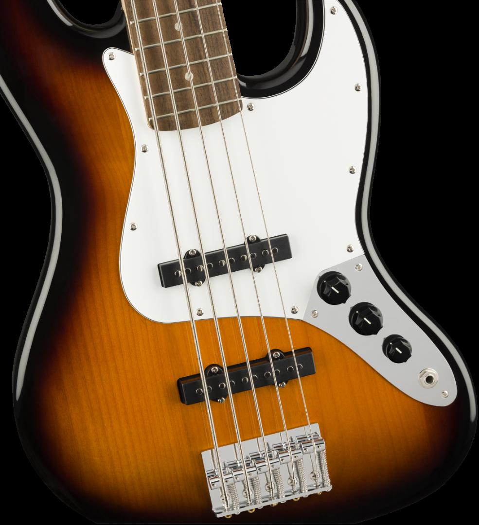 squier fender affinity series 5 string electric jazz bass v brown sunburst ebay. Black Bedroom Furniture Sets. Home Design Ideas