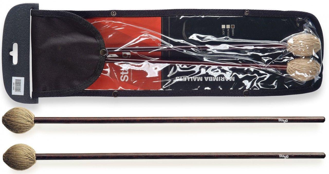 Stagg-Model-SMM-WM-Pair-of-Marimba-Mallets-Wool-Wrapped-Medium-Head