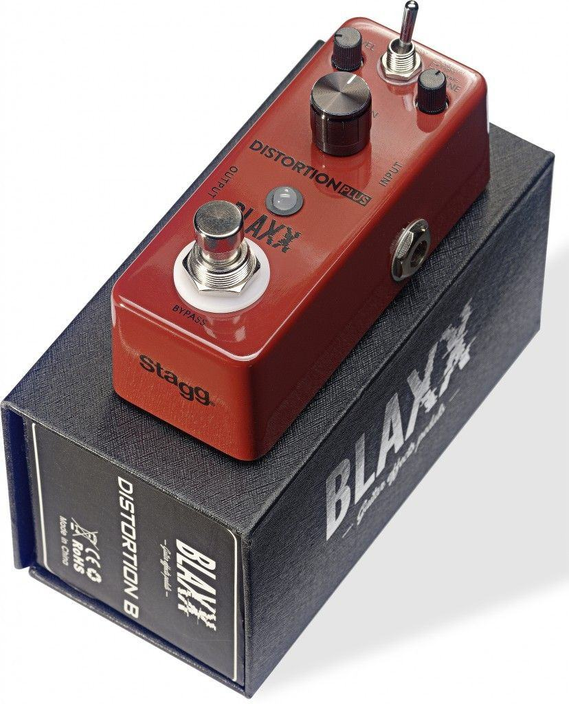Blaxx by Stagg Model BX-DIST B Electric Guitar 3 MODE Distortion Effect Pedal
